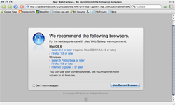 dot mac browser FAIL